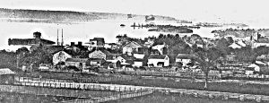 The Town of Brockville from the east end - ca1858